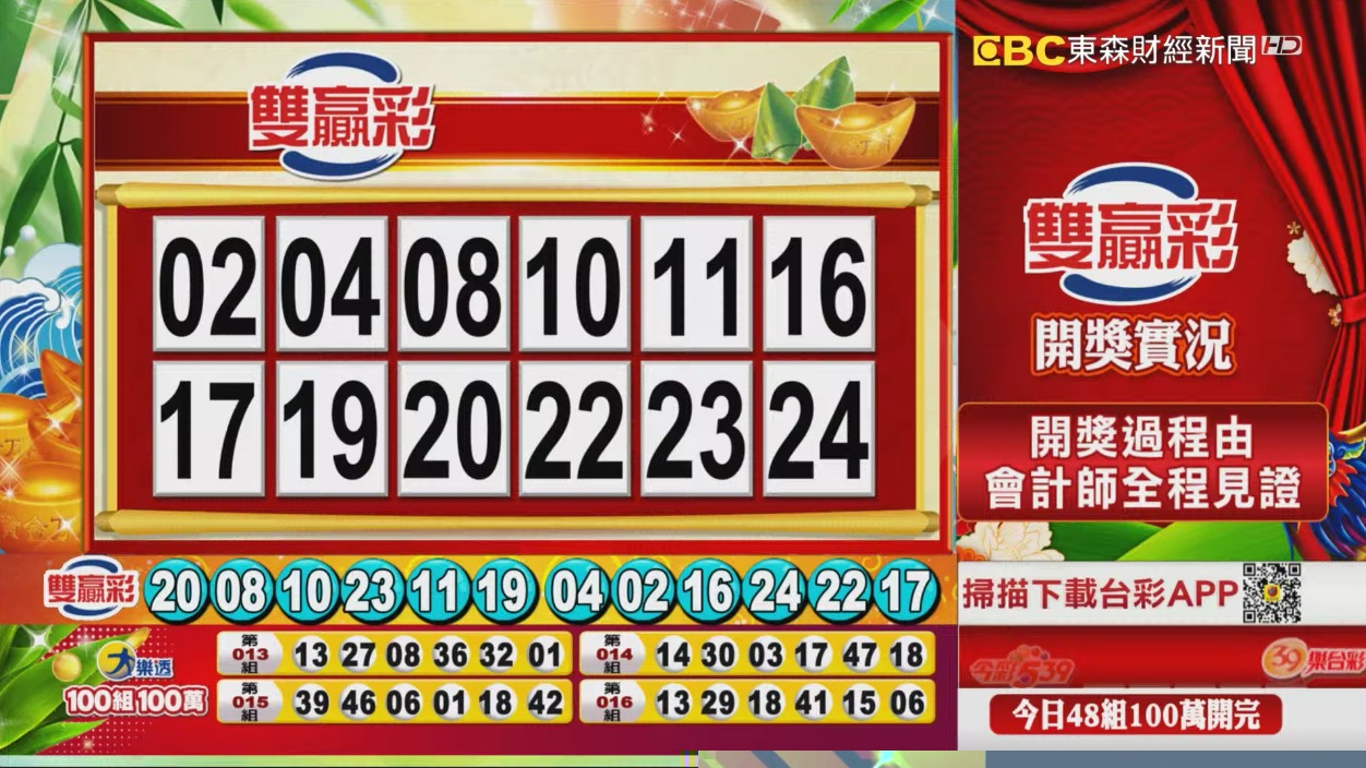 雙贏彩中獎號碼》第109000153期 民國109年6月26日 《#雙贏彩 #樂透彩開獎號碼》